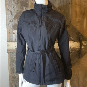 The North Face Black Hyvent belted Trench Jacket